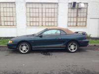 Great car for sale! Green/Blue Convertible, leather