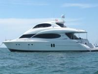 Welcome aboard our luxurious 2005 80' Lazzara enclosed