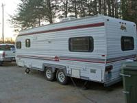 1992 19 to 20 ft Sunline travel camper, electric jack,