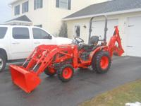2012 Kubota B2920 4WD tractor, 1 owner, 77 hrs,