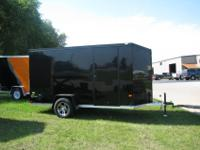New 2012 model 6' x 12' enclosed aluminum motorcycle