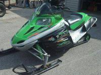 I am selling my 2007 Artic Cat F1000. This sled starts,