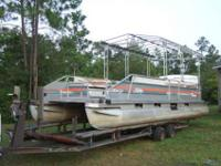 Pontoon Boat 28ft Party Barge Sun Tracker , 19