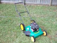 "4.75 HP Weedeater Lawnmower 22"" cut with Large wheels"