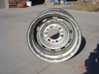 "4 - 8"" x 15"" 6 lug 70's Chevy truck rally wheels."