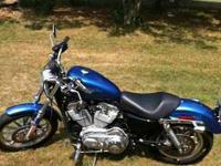 2006 hd sportster only 1300 miles chopper blue Vance n