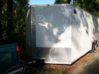 8 1/5' wide by 20' V nose with RV flush lock entry door