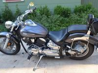 2006 Yamaha Vstar 1100 Custom with charcoal and light