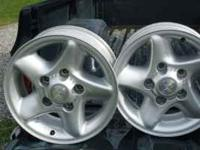 4 16x7 alloy wheels from a '98 Dodge Ram 1500 4x4. Very