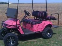 36 volt, NEW batteries! Custom pink camo dipped body,