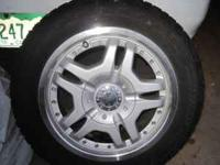 4 alloy rims with Winterforce snow tires 195-60-15