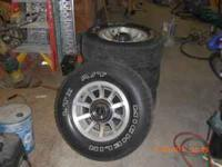 "I have four factory 15"" Aluminum jeep wheels. They have"