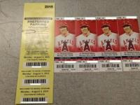 (4) Tickets are for Monday's (08/03/15) Angels vs