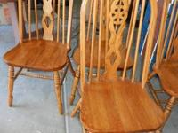 4 gorgeous antique wheelback spindle chairs from the