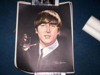 4 posters, one of each of the Fab Four-- John, Paul,