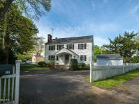 Beautifully renovated colonial with entrance portico.
