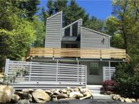 Contemporary - out of the ordinary, wooded private lot,