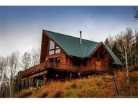 Unbelievable custom log cabin nestles in the trees