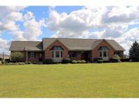 Beautiful, custom built brick ranch (6 acres) w/Fin.