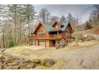 Custom Log Home on Private Retreat. Natural