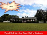 Well maintained 4 br/3 ba brick home on 1.5 acres* sun