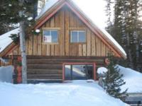 One of its kind; highest cabin on the ski hill. Located