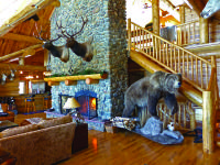 Beautiful custom log home with over 7,800 sq.ft. of