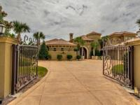 Exquisite Custom Italian Gated Estate directly on the