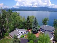 Expansive Pend Oreille River and lake views from this