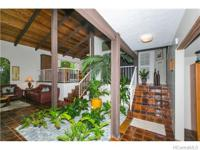 Stunning entry with high ceilings & Koolau views. Extra