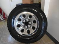 4 BF GOODRICH USED TIRES AND WHEELS. SIZE LT265/70R17.