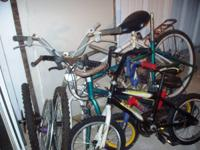 4 bikes mainly for parts and different additional
