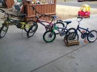"Four bikes for sale. The 2 smaller bikes are 16""; would"