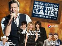 "Blake Shelton's ""Ten Times Crazier"" tour with The Band"