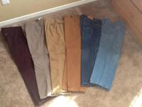 American Eagle are size 2830 on khaki the rest are