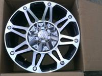 Four brand new Mayhem Riot wheels, 17x8, they have two