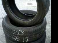 (4) 215/55/17 tires - good tread. Bridgestone Turanza