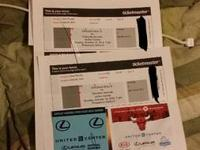 4 bulls tickets with parking sec 232 row 8 seat 1-4