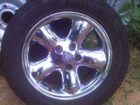 4 cadillac rims and tires two are hankok 225/55/R16 and