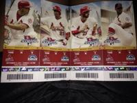 4 cardinals tickets section 166 row k seats 5-8,