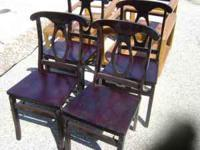4 Cherry Wood folding chairs. gently used. bought 4yrs