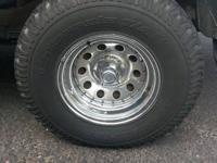 "4 Chrome Steel Wheels 15"", 5 lug, 5 on 5 bolt pattern,"