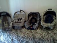 I HAVE 4 BABY CARSEATS FOR SALE BOY COLORS, A BLUE