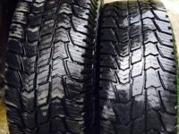 I have 4 commercial grade tires for sale. 2 are Duravis