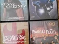 4 music DVDs!  Kenny Chesney CMT pick dvd. Includes