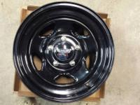 I have 4 black cragar truck wheels, 15 x 7,  5 on 5
