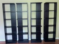 4 Crate & Barrel Elements Reversible Bookcase