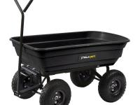 This Gorilla Carts Garden Dump Cart features a patented