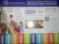 Westgate is offering you and your family a 4 day 3