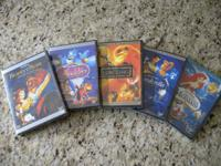 Hi. I have 5 brand brand-new Disney DVDs. These are the
